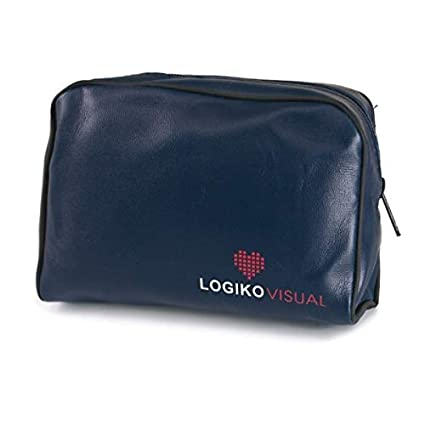 LOGIKO-Bolsa con cremallera y de color azul para tensiómetro a aneroide