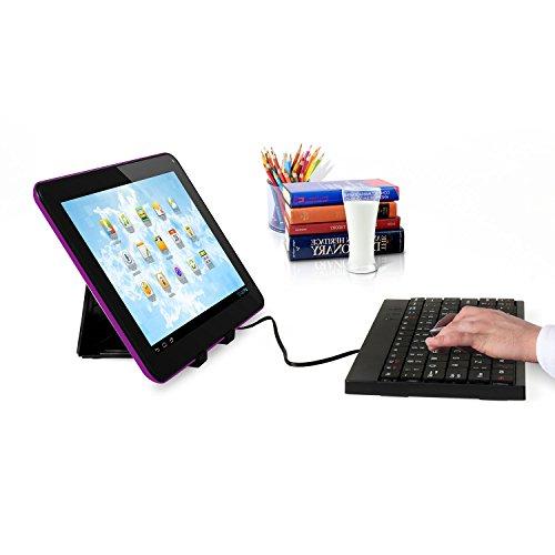 Kocaso MX736 - 7 inch Android 4.2 Tablet, Rockchip 3026 Cortex-A9 Dual-Core Processor 1.2GHz, Dual Camera, WiFi, and Bonus Items - Purple