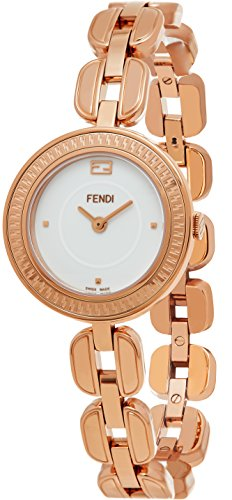 Fendi MyWay Women's-small White Face Rose Gold Plated Swiss Watch F351524000 by Fendi