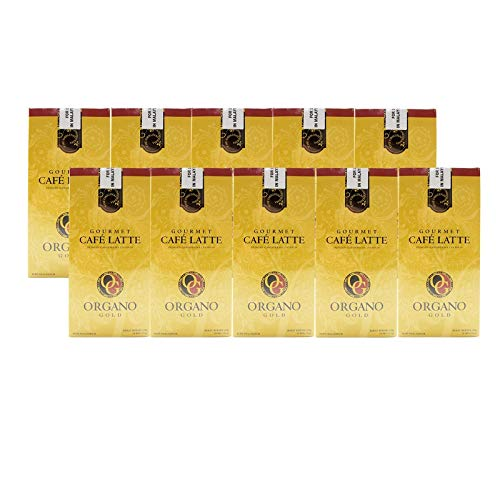 - 10 Boxes of Organo Gold Ganoderma -Gourmet Café Latte Coffee (20 sachets per box)