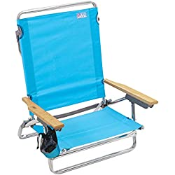 Rio Beach Classic 5 Position Lay Flat Folding Beach Chair - Turquoise