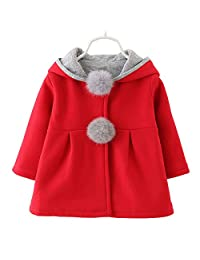 Baby Girl's Toddler Kids Winter Coat Jacket Outwear Hoodie with Ears Hood