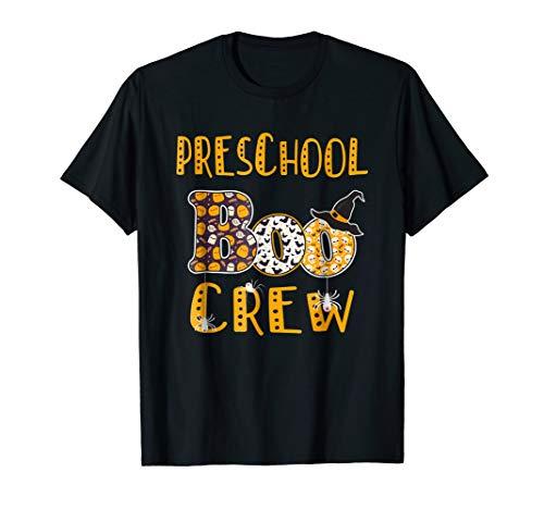 (Preschool Boo Crew Teacher T Shirt Halloween)