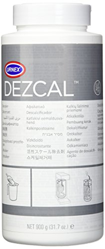 Urnex Dezcal Coffee and Espresso Machine Descaler Activated Scale Remover - 900g Bottle - Fast Effective Descaling Of Boilers and Heating Elements Faucets Spray Heads Milk Systems