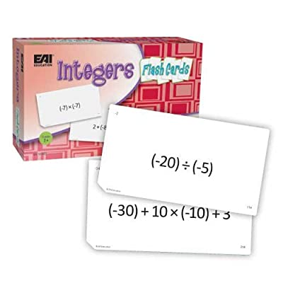 EAI Education Integers Flash Cards: Toys & Games