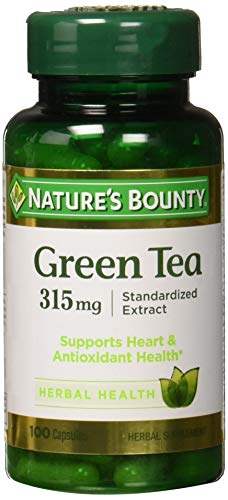 Natures Bounty Grn Tea Ex Nat 315 Mg 100 Cp, Pack of 3