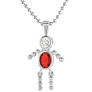 Amazon.com: Sterling Silver Birthstone Necklace July Baby