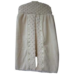Baby Doll Bedding Bedding Heavenly Soft Diaper Stacker, Ivory