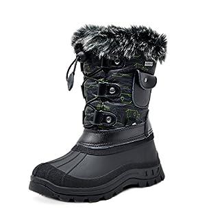 DREAM PAIRS Big Kid Ksnow Black Dk.Grey Green Isulated Waterproof Snow Boots - 4 M US Big Kid (B0737LD967)   Amazon price tracker / tracking, Amazon price history charts, Amazon price watches, Amazon price drop alerts