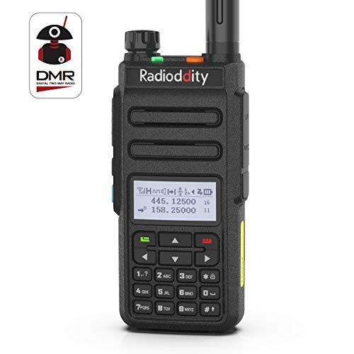 Radioddity GD-77 Dual Band Dual Time Slot DMR Digital Analog Two Way Radio VHF UHF 1024 Channels Ham Amateur Radio w Free Programming Cable and Charger
