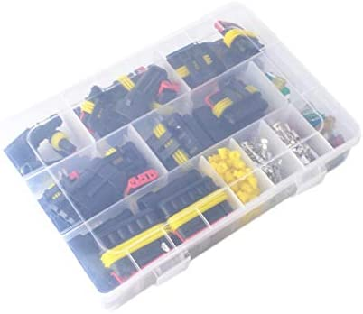 Semoic 216Pcs//Set 1-6 Pin Car Motorcycle Waterproof Electrical Wire Automotive Terminals Kit Male Female Plug Blade Fuses