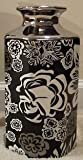 Missoni For Target ~ Floral Stoneware Decorative Vase~ Silver/ Black/White
