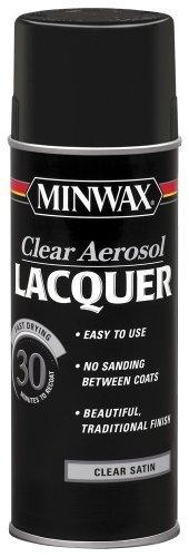 Minwax 15210 Clear Aerosol Lacquer Spray, 12.25-Ounce, Satin by Minwax