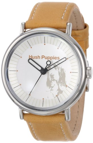 Hush Puppies Women's 'Signature' Quartz Stainless Steel and Leather Casual Watch, Color:Orange (Model: HP.3760L.2510)