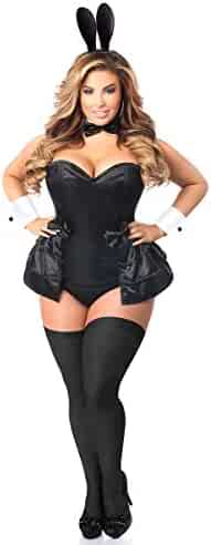 75e96d7291ff Daisy Corsets Women s Lavish Plus Size 5 Pc Formal Tuxedo Bunny Corset  Costume