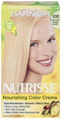 Garnier Nutrisse Nourishing Color Creme, Extra-Light Natural Blonde [100] 1 ea (Pack of -