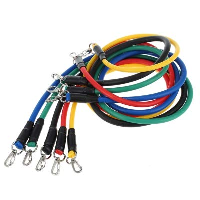 Zizule 11pcs Latex Resistance Exercise Fitness Pull Rope Weight Loss ()