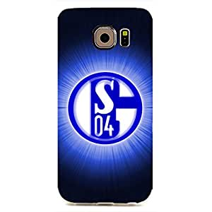 Plastic Phone Case,The FC Soccer Club Schalke 04 Football Club Logo Phone Case Samsung Galaxy S6 edge,Protective Phone Case Cover