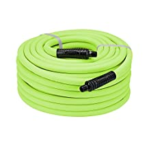 Legacy HFZ1250YW3 Manufacturing Flexzilla 1/2-Inchx50-Feet Zillagreen Air Hose with 3/8-Inch MNPT Ends and Bend Restrictors