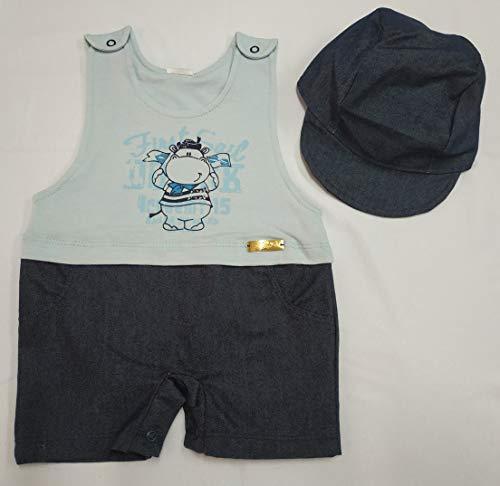 dc2f1496f70f9 Banho De Sol Com Boné 238 Azul Bebe Nana Neném Tamanho:p;cor:azul Bebê ...