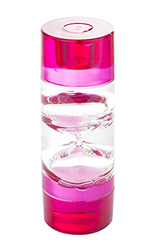 Price comparison product image Liquid Timer Tall Cylinder w/Interior Sand Hourglass - Pink