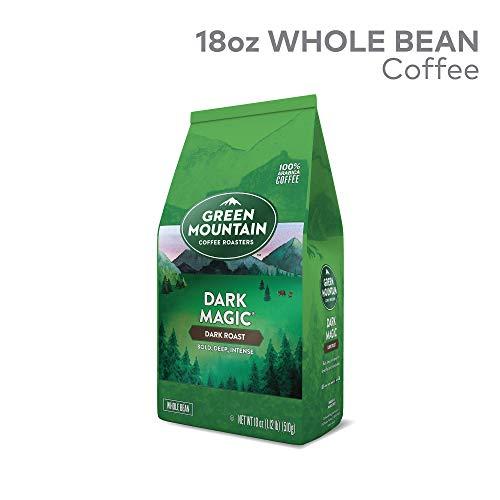 GMCR7 Green Mountain Coffee Roasters Dark Magic Whole Bean Bagged Coffee, Dark Roast, 18 oz