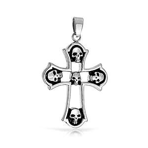 Bling Jewelry- Colgante de acero inoxidable