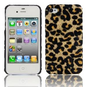 Leopard Print Protective Case for iPhone 4/4S Gold