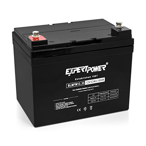 ExpertPower 12v 33ah Rechargeable Deep Cycle Battery [EXP12330] Replaces 34Ah, 35Ah, 36Ah (Best 12 Volt Golf Cart Batteries)