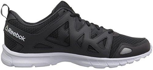 Les Hommes Imprimer Des Chaussures De Course De Pointe Lite Noir / Gris Fonc? / Blanc Reebok 9W8PKQ5