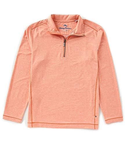 Tommy Bahama Zamas Half Zip Pullover (Color: Orange Blast, Size -