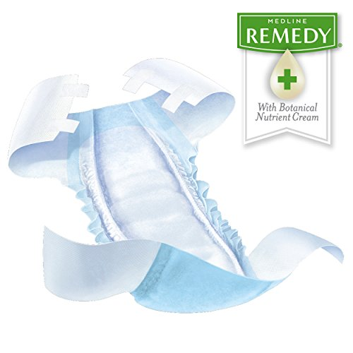 FitRight Restore Adult Briefs with Tabs, Maximum Absorbency, X-Large, 57''-66'', For Adult Incontinence, Comfort and Skin Health, 4 packs of 20 (80 total) by Medline (Image #1)