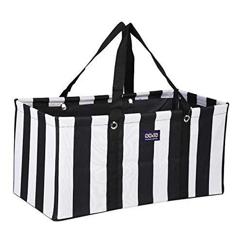 最適な材料 再利用可能で折りたたみ可能な食料品ショッピングユーティリティトートバッグ R-002-001 Stripes B07GVSQHZG Vertial Black Vertial/White Stripes Vertial Vertial Black/White Stripes, ムカイシマチョウ:83c417aa --- by.specpricep.ru