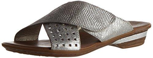 Rieker 63495, Mules para Mujer Plateado (Silver / 90)