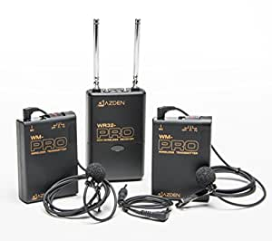 azden wdl pro 2 channel vhf wireless microphone system musical instruments. Black Bedroom Furniture Sets. Home Design Ideas