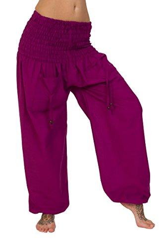 ThaiUK - Pantalón - para mujer rosa (b)