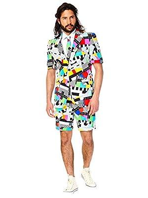 Opposuits Men's Summer Suit: Shorts, Short-Sleeved Jacket & Tie