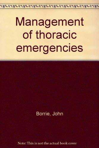 Management of thoracic emergencies