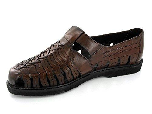 Gordini SHANE Mens Interlaced Leather Sandals Black Brown 12sOM