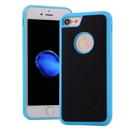 JIALUN-carcasa de telefono Cubierta de IPhone 7, contra caja antigravedad Self Stick contraportada de plástico con orificio en la parte posterior para iPhone 7 ( Color : Green , Size : IPhone 7 ) Blue