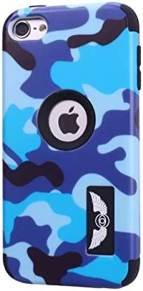 iPod Touch 6 Case,Lantier Cool Solider Camouflage Series 3 in 1 Plastic Hard PC Soft Silicone Hybrid High Impact Defender Case Covers Scratchproof Dustproof Shockproof ArmyGreen