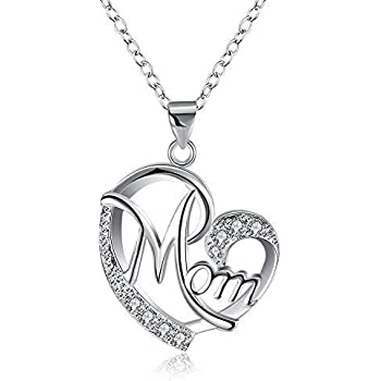 cd5336479f95 Amazon.com: WMAO Unique Silver or Rose Gold Color Mother's Day MOM ...
