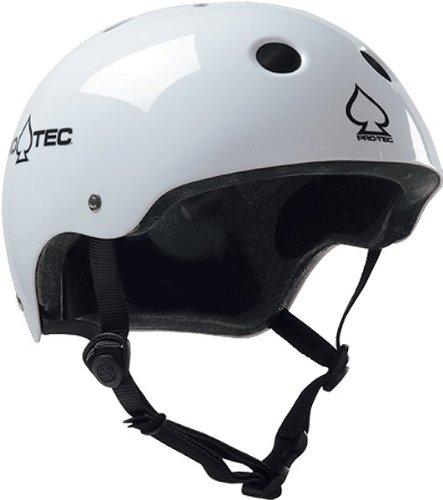 Pro-Tec Classic Skate Helmet, Gloss White, Large