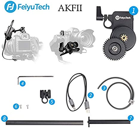 Feiyu AKFII Kit de Enfoque de Seguimiento de Motor sin escobillas ...