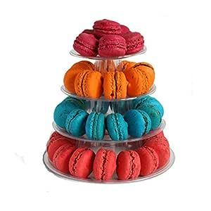 Macaron - Soporte de 4 capas para tartas de macarón, para ...