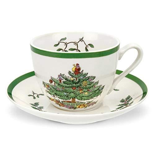 Spode Christmas Tree Teacup and Saucer (Christmas Of And Saucer Cup A Tea)
