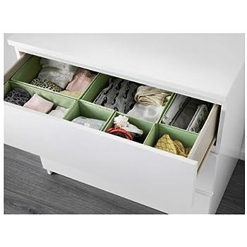 ikea drawer storage organizer box bin tote white 6 piece home kitchen. Black Bedroom Furniture Sets. Home Design Ideas