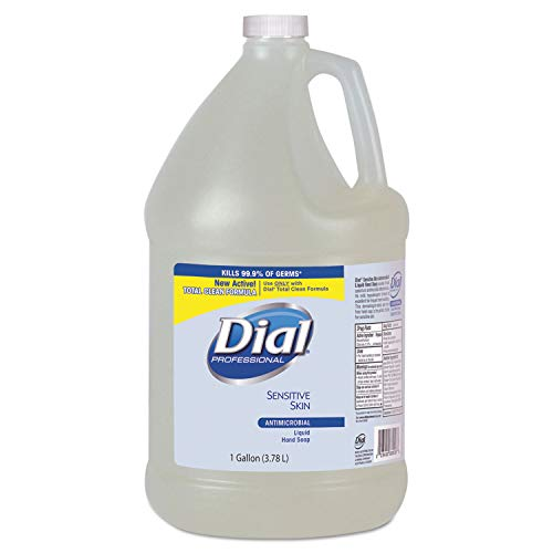 Dial Liquid Antimicrobial Hand Soap for Sensitive Skin, 1 Gallon - 4 per case.