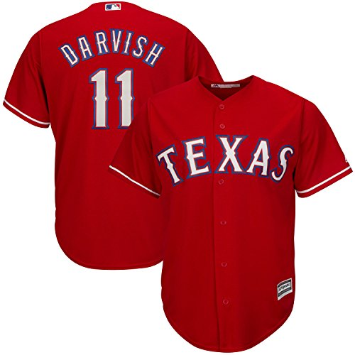 Yu Darvish Texas Rangers Red Youth Cool Base Alternate Replica Jersey (Large 14/16)