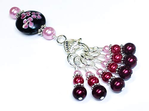 (Knitting Stitch Marker Jewelry Holder Set- Ombre Pearl)